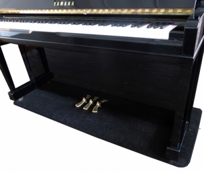 Upright Piano Protection Carpet BLACK