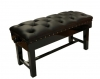 5028BD Tozer Leather Duet Concert Piano Stool